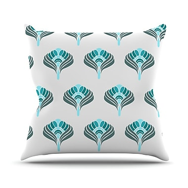 KESS InHouse Peacock Throw Pillow; 26'' H x 26'' W