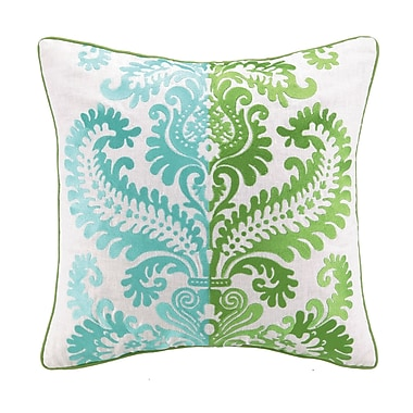 Sis Boom by Jennifer Paganelli Barcelona Embroidered Linen Throw Pillow; Amanda