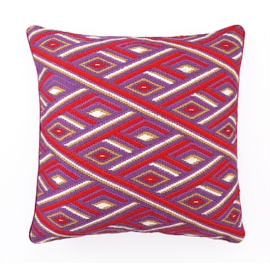 Sis Boom by Jennifer Paganelli Marcella Bargello Linen Throw Pillow; Red