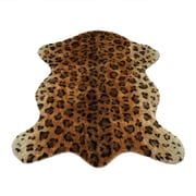 Walk On Me Animal Black/Brown Leopard Area Rug; 3'3'' x 4'7''