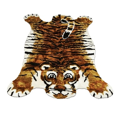 Walk On Me Tiger Kids Rug; Novelty 3'3'' x 4'7''