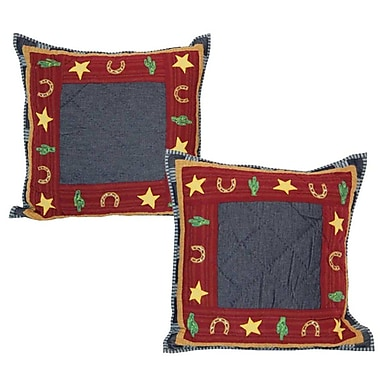Patch Magic Lil Buckaroo Cotton Throw Pillow (Set of 2)