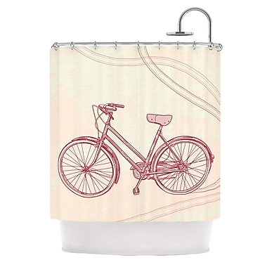 KESS InHouse Bicycle Shower Curtain