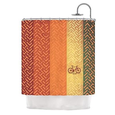 KESS InHouse Lost Shower Curtain
