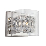 TransGlobe Lighting Glassed Cube 1-Light Wall Sconce