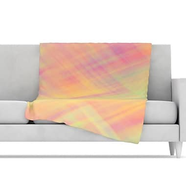 KESS InHouse Pastel Abstract Throw Blanket; 80'' L x 60'' W