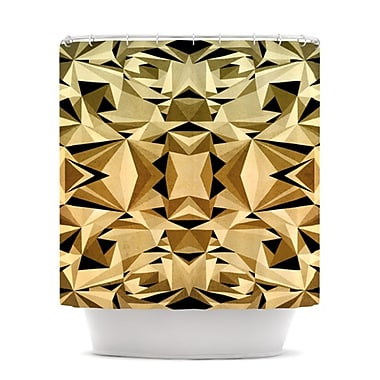 KESS InHouse Abstraction Shower Curtain; Gold and Black