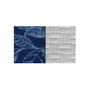 Pacific Table Linens Bouquet Reversible Placemat (Set of 2); Navy / Snow