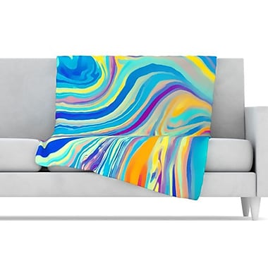 KESS InHouse Rainbow Swirl Throw Blanket; 80'' L x 60'' W
