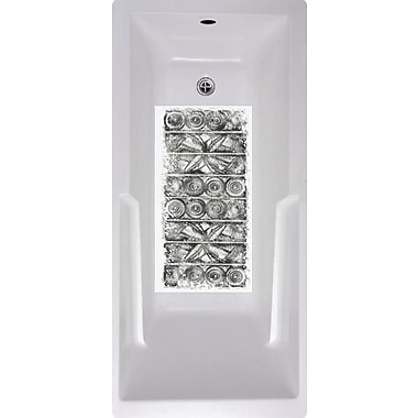 No Slip Mat by Versatraction Black Tiles Bath Tub and Shower Mat