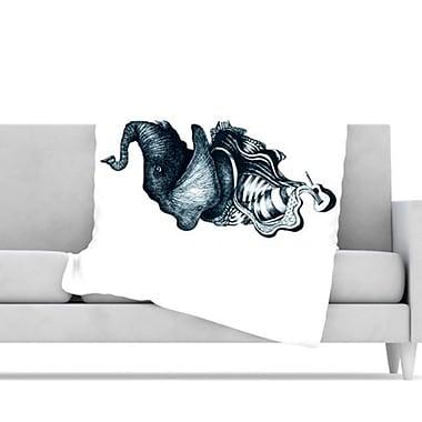 KESS InHouse Elephant Guitar Throw Blanket; 60'' L x 50'' W