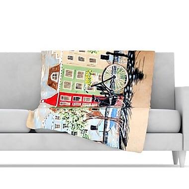 KESS InHouse Bicycle Throw Blanket; 40'' L x 30'' W