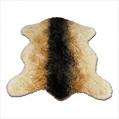 Walk On Me Animal Beige/Black Goat Area Rug; 3'3'' x 4'7''