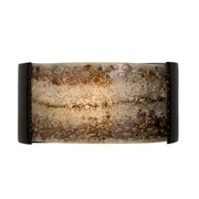 A19 ReFusion Ebb and Flow 1-Light Wall Sconce; Black Gloss and Multi Galaxy