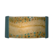 A19 ReFusion Ebb and Flow 1-Light Wall Sconce; Teal Crackle and Multi Amber