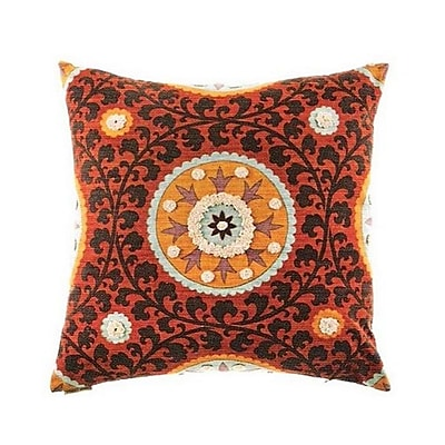 The Well Dressed Bed Tribal Threads Suzani Accent Cotton Throw Pillow