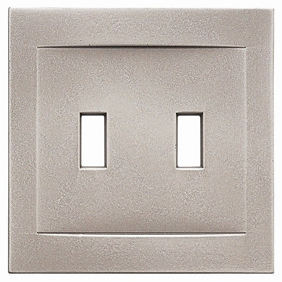 RQ Home Double Toggle Magnetic Wall Plate; Brushed Nickel