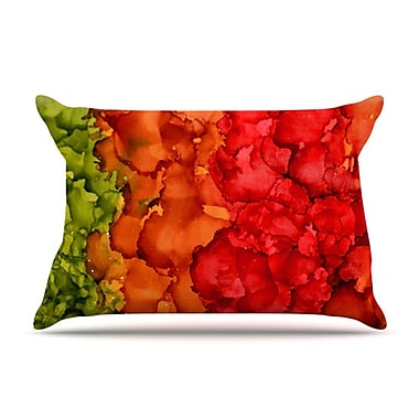 KESS InHouse Fall Splatter Pillowcase; King
