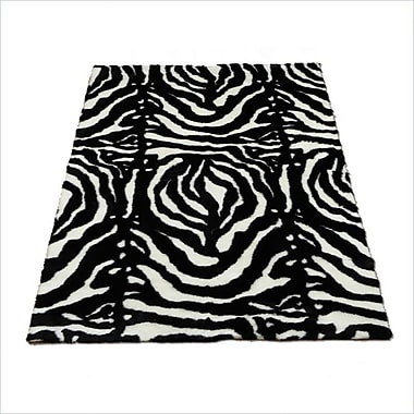 Walk On Me Animal Zebra Black/White Spine Area Rug; 4'7'' x 6'7''