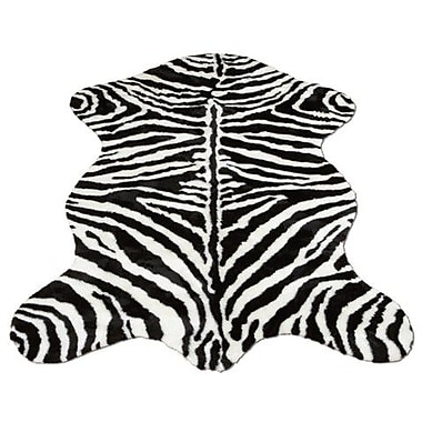 Walk On Me Animal Zebra Narrow Striped Area Rug; Rectangle 2'3'' x 3'8''
