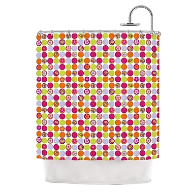 KESS InHouse Happy Circles Shower Curtain