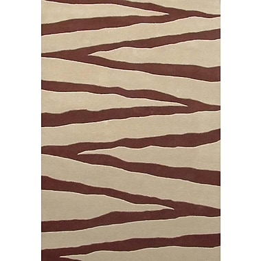 Acura Rugs Contempo Beige/Brown Area Rug; 8' x 10'6''