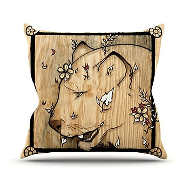 KESS InHouse Panther Throw Pillow; 20'' H x 20'' W 4.5'' D