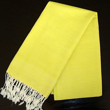 Scents and Feel Fouta Bath Towel; Chartreuse