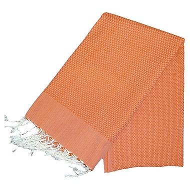 Scents and Feel Fouta Bath Towel; Orange