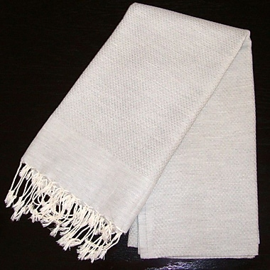 Scents and Feel Fouta Bath Towel; Pearl Grey