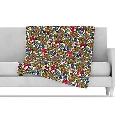 KESS InHouse My Boobooks Owls Throw Blanket; 60'' L x 50'' W