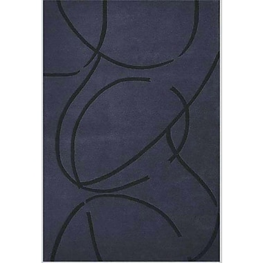Acura Rugs Contempo Dark Blue/Black Area Rug; 8' x 10'6''