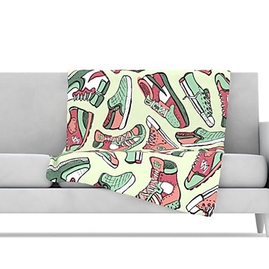 KESS InHouse Sneaker Lover II Throw Blanket; 80'' L x 60'' W