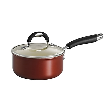 Tramontina Style Ceramica Sauce Pan w/ Lid; 1.5-qt.