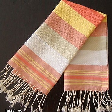 Scents and Feel Fouta Honeycomb Weave Hand Towel; Sunny