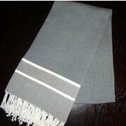 Scents and Feel Fouta Herringbone Stripe Towel; Black/White Stripe