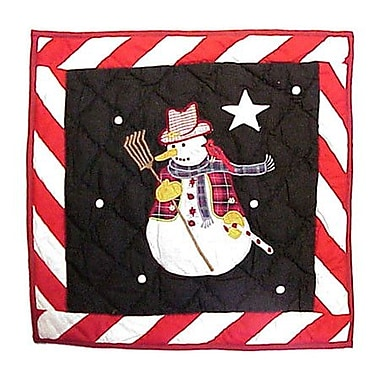 Patch Magic Frosty Snowman Cotton Throw Pillow