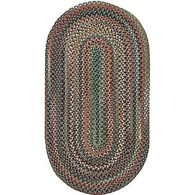 Capel Sherwood Forest Pine Area Rug; Concentric Square 7'6''