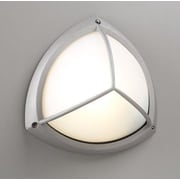 PLC Lighting 1-Light Outdoor Flush Mount; Architectural Silver