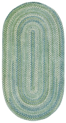 Capel Waterway Sea Monster Green Area Rug; Oval 8' x 11'