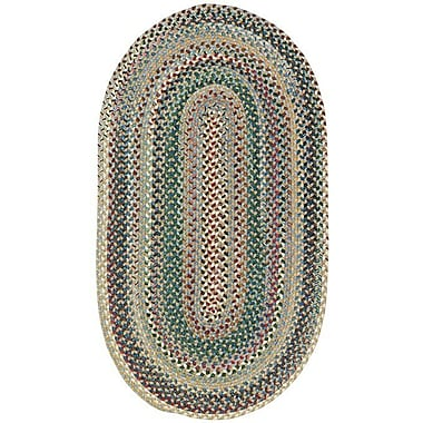 Capel Sherwood Forest Light Blue Area Rug; Concentric Square 7'6''