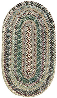 Capel Sherwood Forest Light Blue Area Rug; Oval 2'3'' x 4'