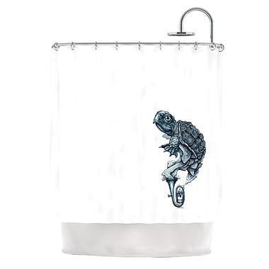 KESS InHouse Turtle Tuba Shower Curtain