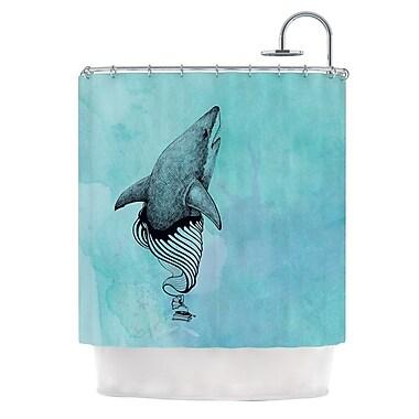 KESS InHouse Shark Record III Shower Curtain