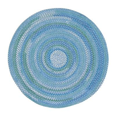 Capel Waterway Deep Blue Sea Area Rug; Round 7'6''