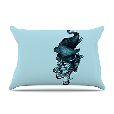 KESS InHouse Elephant Guitar II Pillowcase; Standard