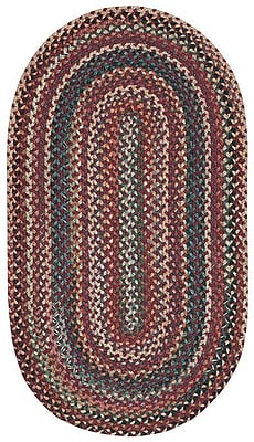 Capel Sherwood Forest Red Area Rug; Concentric Square 9'6''