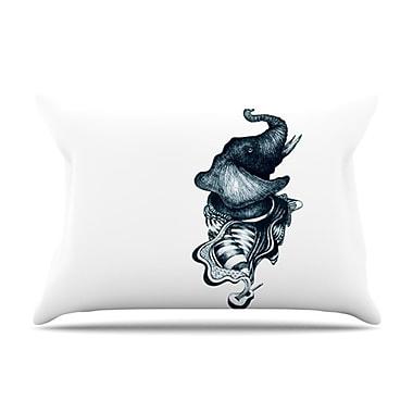 KESS InHouse Elephant Guitar Pillowcase; King