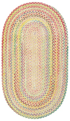 Capel Baby's Breath Buttercup Kids Area Rug; Oval 9'2'' x 13'2''