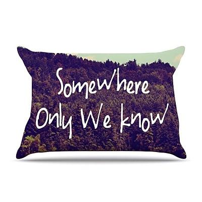 KESS InHouse Somewhere Pillowcase; Standard WYF078275775893